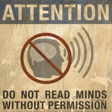 Do Not Read Minds without Permission Canvas Wall Art