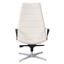 Domino Lounge Chair in White and Chrome