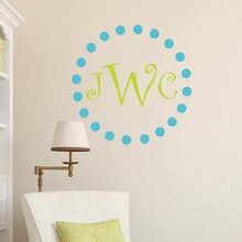 Dotz and Curlz Monogram Wall Decal