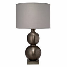 Double Ball Cast Metal Table Lamp in Antique Pewter