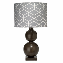 Double Ball Cast Metal Table Lamp in Chocolate