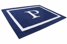 Double Border Monogram Square Rug
