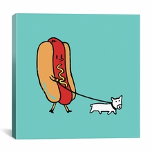 Double Dog Canvas Wall Art
