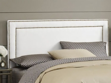 Double Nailhead Border Upholstered Headboard