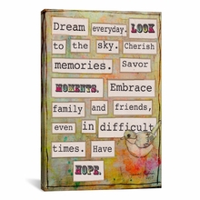 Dream Everyday Canvas Wall Art