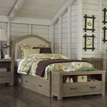 Reclaimed Grayson Twin Upholstered Bed