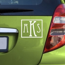 Eccentric Car Monogram Decal
