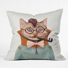 Eclectic Cat Throw Pillow