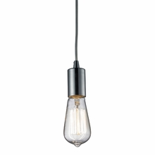 Edison Bulb Pendant In Polished Chrome