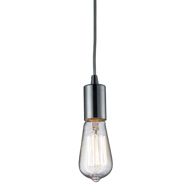 district17 edison bulb pendant in polished chrome