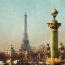 Eiffel Tower and Street Lamp Wall Art
