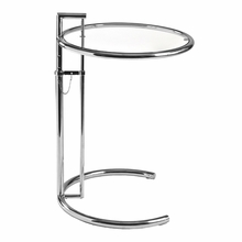 Eileen Gray Table in Clear and Chrome