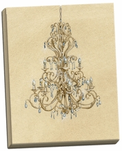 Elegant Chandelier I Canvas Wall Art