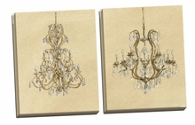 Elegant Chandelier I, II Canvas Wall Art Set