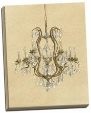 Elegant Chandelier II Canvas Wall Art