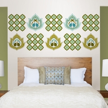 Elephant Paisley Blox Wall Decals