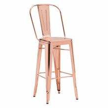 Elio Bar Chair Rose Gold