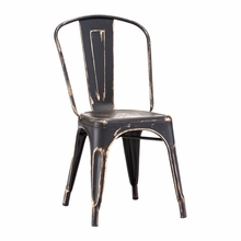 Elio Chair Antique Black Gold
