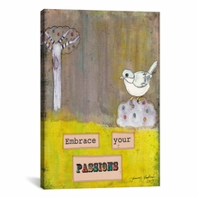 Embrace Your Passions Canvas Wall Art