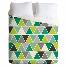 Emerald Triangulum Lightweight Duvet Cover