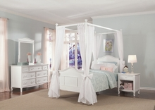 Emma 4-Post Bed with Tall Headboard and Footboard