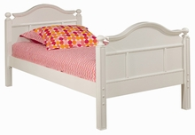 Emma Bed with Low Headboard and Tall Footboard