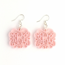 Emma Chandelier Acrylic Monogram Earrings