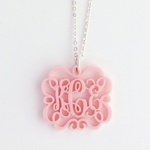 Emma Chandelier Acrylic Monogram Necklace