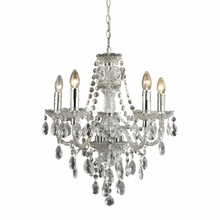 Emma Silver and Clear Crystal Chandelier
