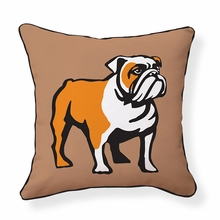 English Bulldog Reversible Throw Pillow