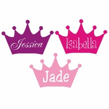 Engraved Princess Crown Personalized Car Decal