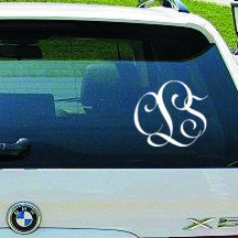 Entwined Car Monogram Decal