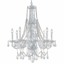 Envogue White Crystal Chandelier