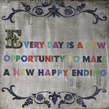 Every Day Is A New Opportunity Small Vintage Canvas Print on Wood