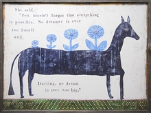 Everything is Possible Vintage Art Print with Grey Wood Frame