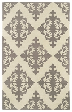 Evolution Diamonds Rug in Grey