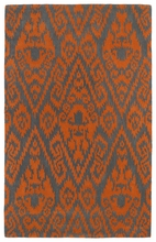 Evolution Ikat Rug in Orange