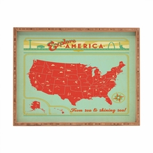Explore America Rectangular Tray