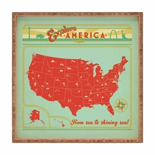 Explore America Square Tray