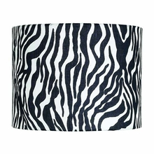 Extra Large Drum Lamp Shade in Zebra