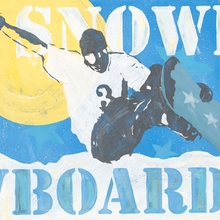 Extreme Sports Snowboard Canvas Art