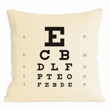 Eye Chart Pillow