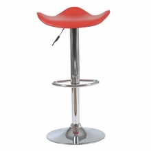 Fabia Bar and Counter Stool in Red and Chrome