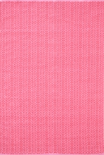 Fair Isle Woven Cotton Rug in French Pink and Fuchsia