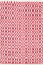 Fair Isle Woven Cotton Rug in French Red and Ivory
