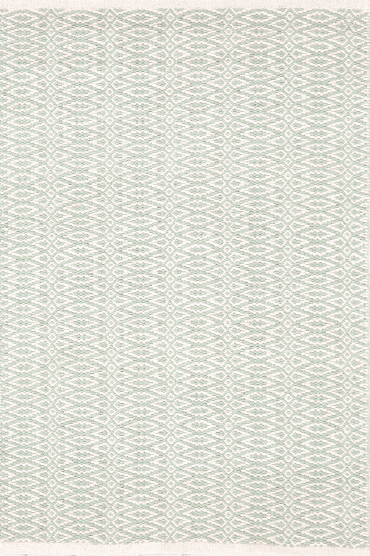 District17: Fair Isle Woven Cotton Rug in Ocean and Ivory ...