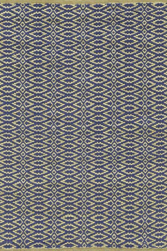 District17: Fair Isle Woven Cotton Rug in Rosemary and Ink ...