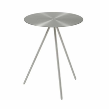 Faith Side Table in Brushed Steel