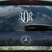 Fancy Interlock Car Monogram Decal
