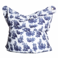 Fashion Bag Toile de Jouy Bean Bag Chair